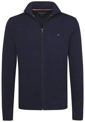 Tommy Hilfiger Zip-Up Fine Gauge Knit Cardigan