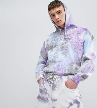 Reclaimed Vintage inspired festival hoodie with tye dye