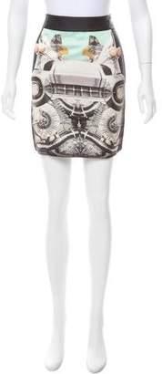 Emma Cook Printed Mini Skirt