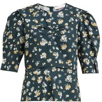See by Chloe Summer Floral Print Cotton Blouse - Womens - Green Multi