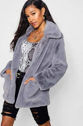 boohoo Super Soft Faux Fur Coat