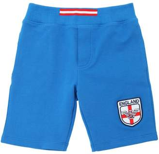 Armani Junior England Soccer Team Cotton Sweat Shorts