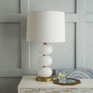 west elm Abacus Table Lamp - Milk White
