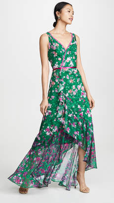 Marchesa Floral High Low Gown
