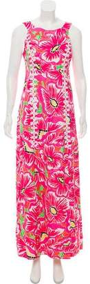 Lilly Pulitzer Maxi Floral Print Dress