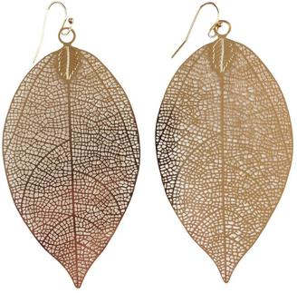 GHome2 Filigree Leaf Earrings $19 thestylecure.com