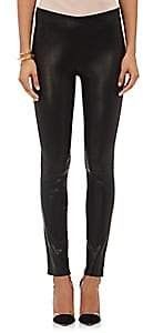 J Brand Women's Leather Pull-On Leggings - Black
