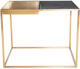 One Kings Lane Corbett Side Table - Black/Brass