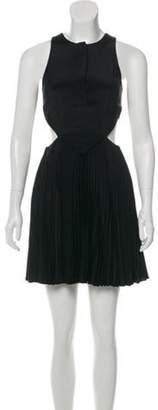 Christopher Kane Exposed Mini Dress Black Exposed Mini Dress