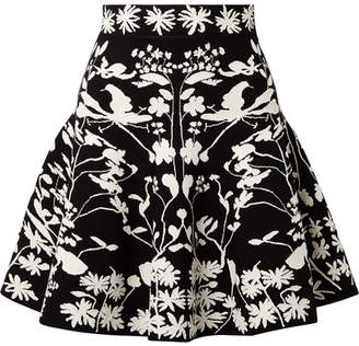 Alexander McQueen Jacquard-knit Mini Skirt - Black