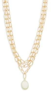 Panacea Goldtone Link Layered Necklace