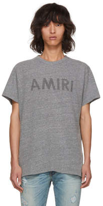Amiri Grey Logo T-Shirt