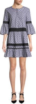 Neiman Marcus Kobi Halperin Joan 3/4-Sleeve Shift Dress
