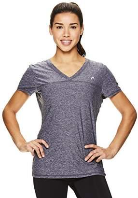 Head Women's High Jump Short Sleeve Workout T-Shirt - Performance V-Neck Activewear Top