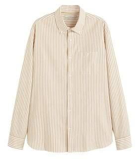 Mango Man MANGO MAN Regular-fit striped cotton shirt