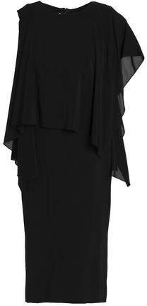 Paneled Silk-Chiffon Dress