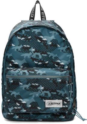 MAISON KITSUNÉ Blue Eastpak Edition Camo Out Of Office Backpack