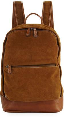 Frye Chris Suede Dual-Zip Backpack