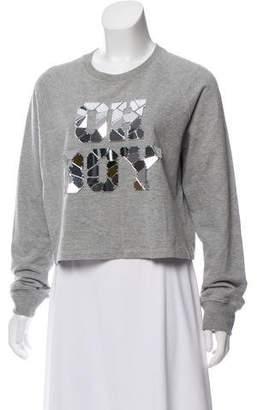 Markus Lupfer Embellished 'Oh Boy' Sweatshirt