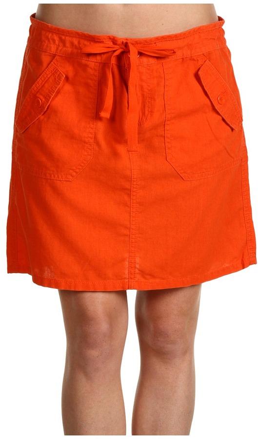 Calvin Klein Jeans Linen Skirt (Firecracker) - Apparel