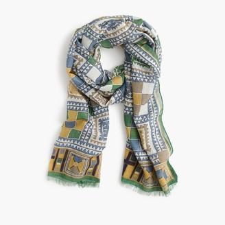 Drake's® cotton-silk scarf in geometric print $195 thestylecure.com