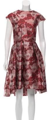 Temperley London Jacquard Pleated Dress