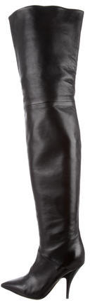 CelineCéline Leather Thigh-High Boots