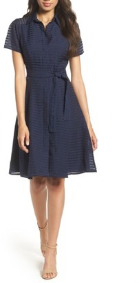 Women's Chetta B Shadow Stripe Shirtdress $88 thestylecure.com