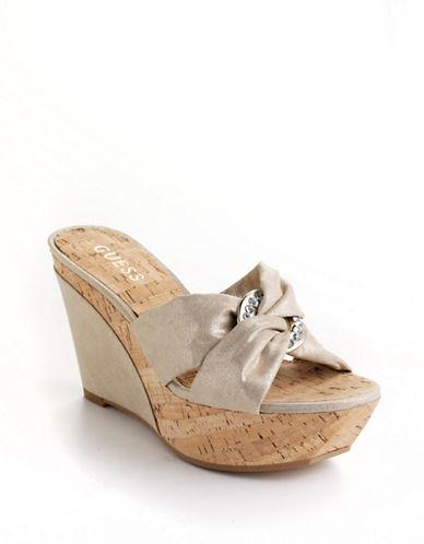 GUESS Balasi Platform Wedge Sandals