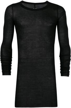 Rick Owens draped long sleeve T-shirt