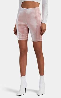 Area Women's Cotton-Blend Lamé Bike Shorts - Pink