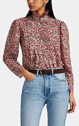 Robert Rodriguez Women's Cayana Pleated Floral Blouse - Pink