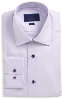 David Donahue Slim Fit Check Dress Shirt