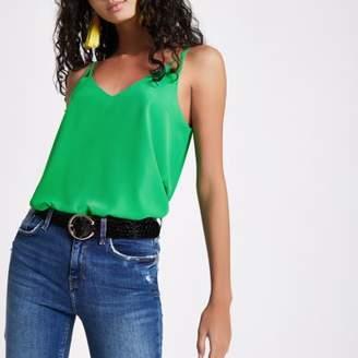 River Island Womens Green V neck cami tank top