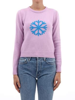 Alberta Ferretti Pink Snowflake Sweater