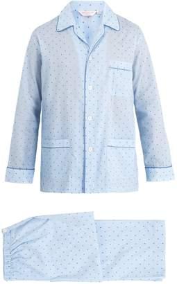 Derek Rose Nelson striped cotton-batiste pyjama set