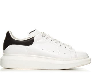 ALEXANDER MCQUEEN Raised-sole low-top leather trainers $398 thestylecure.com