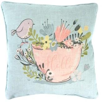 Jordan Manufacturing Multi-colored Bird Decorative Pillow 20x20