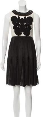 Proenza Schouler Embellished Sleeveless Dress black Embellished Sleeveless Dress