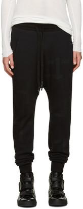 11 by Boris Bidjan Saberi Black T Pattern Lounge Pants $545 thestylecure.com