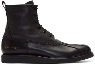 Common Projects Black Duck Boots
