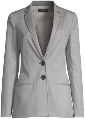 522a5b7b36e Piazza Sempione Striped Two-Button Blazer Jacket