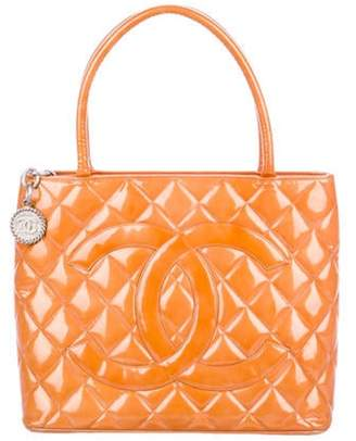Chanel Patent Leather Medallion Tote silver Patent Leather Medallion Tote