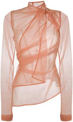 Rick Owens Lilies sheer mesh top