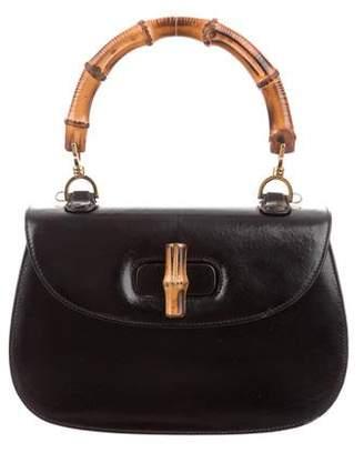 Gucci Vintage Small Bamboo Top Handle Bag