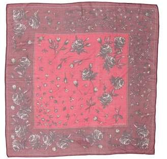 Halston Floral Print Scarf