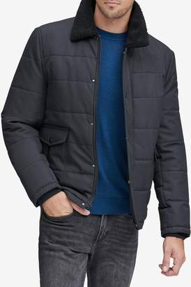 Andrew Marc Howell Faux Shearling Trimmed Jacket