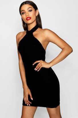 boohoo Racer Neck Knitted Bodycon Dress