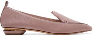 Nicholas Kirkwood Beya Textured-leather Point-toe Flats - Lilac