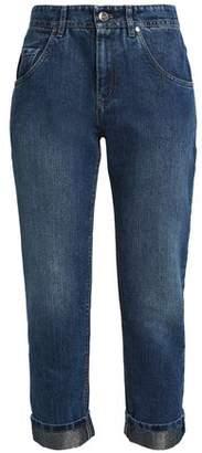 Brunello Cucinelli Cropped Faded Boyfriend Jeans